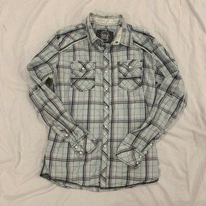 BKE Buckle Long Sleeve Button Up Shirt